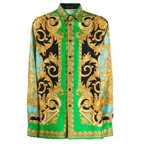 💚RARE▪️Gianni Versace Men's Silk Shirt▪️💚Size 43